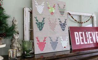 diy reindeer specimen art and my christmas mantel, christmas decorations, crafts, seasonal holiday decor