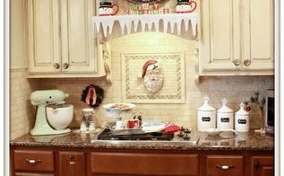 vintage christmas kitchen, christmas decorations, home decor, kitchen design, seasonal holiday decor