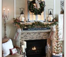 cozy farmhouse christmas mantel, christmas decorations, fireplaces mantels, seasonal holiday decor