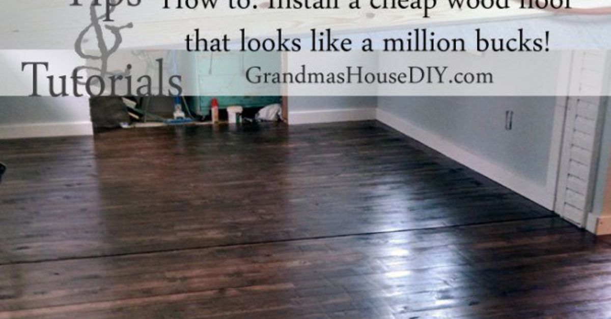 How to install an inexpensive wood floor hometalk for Hardwood floors 1200 square feet