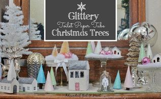 glittery tp tube christmas trees, christmas decorations, crafts, how to, seasonal holiday decor