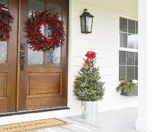 our farmhouse christmas front porch, christmas decorations, porches, seasonal holiday decor