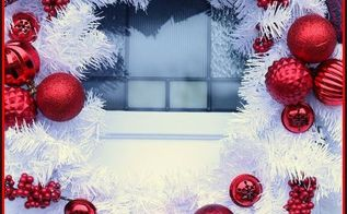 Diy Red Hydrangea Christmas Wreath Christmasdiy Hometalk