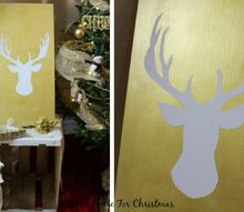 potterybarn silhouette reindeer knockoff, crafts, how to