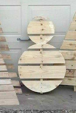 How to Make a Wood Pallet Snowman | Hometalk