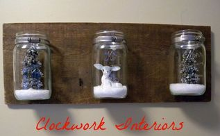 diy mason jar wall sconce, christmas decorations, crafts, mason jars, seasonal holiday decor, wall decor