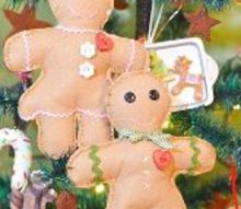 handmade gingerbread boys and girls, christmas decorations, crafts, seasonal holiday decor