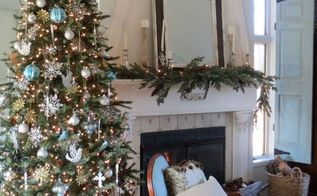 christmas in the family room, christmas decorations, home decor, seasonal holiday decor
