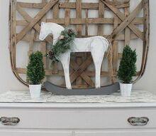 holiday wood rocking horse re do idea, christmas decorations, seasonal holiday decor