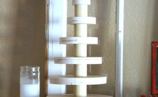 a rustic stacked wood christmas tree, christmas decorations, seasonal holiday decor, woodworking projects