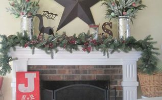 cottage christmas mantel, christmas decorations, fireplaces mantels, seasonal holiday decor