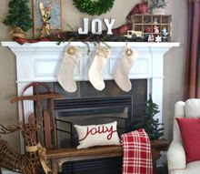 20 minute vintage christmas mantel, christmas decorations, fireplaces mantels, seasonal holiday decor