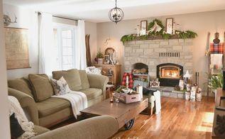 rustic farmhouse christmas mantel home for the holidays, christmas decorations, fireplaces mantels, home decor, seasonal holiday decor