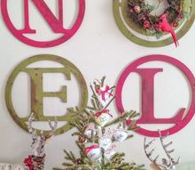 diy vintage distressed look noel wall art, christmas decorations, crafts, seasonal holiday decor, wall decor