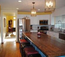 kitchen remodel farm table island, home improvement, kitchen design
