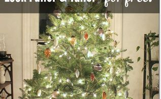 how to make a christmas tree look fuller and taller for free, christmas decorations, seasonal holiday decor