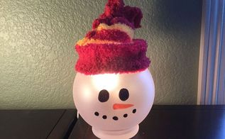 easy snowman great kids craft too, christmas decorations, crafts, how to, seasonal holiday decor