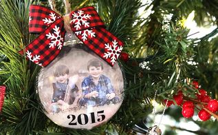 snow globe photo ornaments, christmas decorations, crafts, seasonal holiday decor