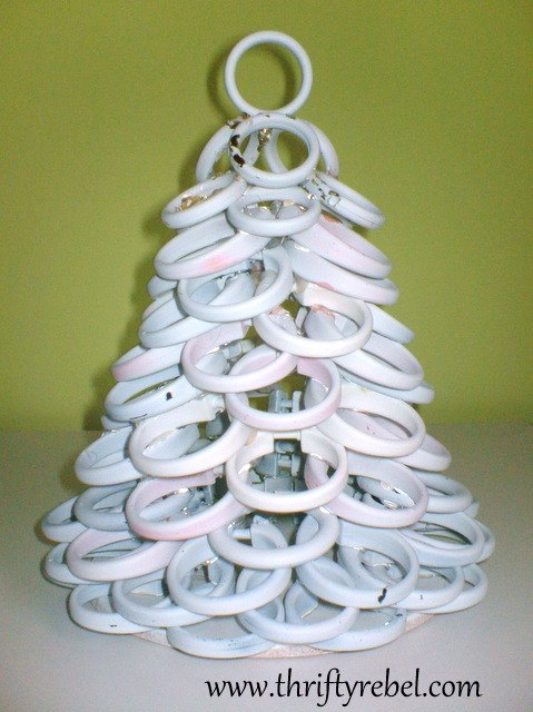 Christmas Decorations Using Curtain Rings : Shower curtain ring christmas tree hometalk