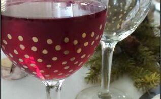 festive holiday stemware, crafts