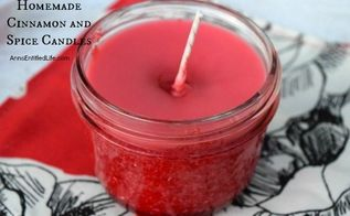 homemade cinnamon and spice candles, crafts
