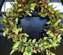 holiday wreath tea leaves and berry, christmas decorations, crafts, seasonal holiday decor, wreaths