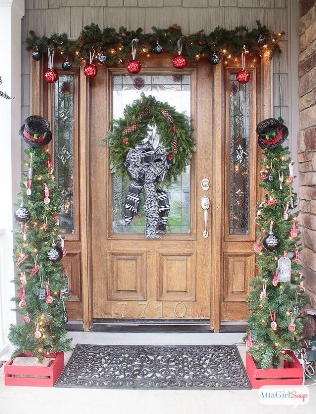 schoolhouse inspired vintage christmas porch decorations hometalk. Black Bedroom Furniture Sets. Home Design Ideas