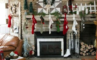 a rustic farmhouse christmas mantel, christmas decorations, fireplaces mantels, seasonal holiday decor