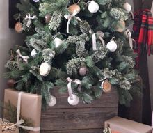 old fence puts final touch on our christmas tree, christmas decorations, diy, repurposing upcycling, seasonal holiday decor, woodworking projects