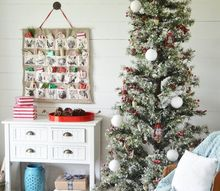 our christmas entry way, christmas decorations, foyer, home decor, seasonal holiday decor