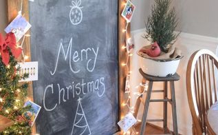 christmas chalkboard huge, chalkboard paint, christmas decorations, crafts, seasonal holiday decor
