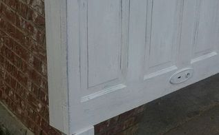 5 panel vintage door headboard antique white faux distressing, painted furniture