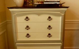 french provincial dresser makeover, painted furniture