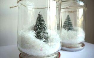 diy mason jar snow globe, christmas decorations, crafts, mason jars, seasonal holiday decor