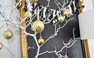 make a christmas branch tree for free, christmas decorations, seasonal holiday decor