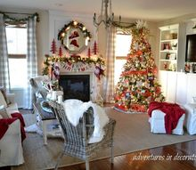 christmas great room, christmas decorations, home decor, seasonal holiday decor