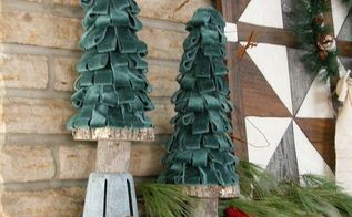 how to make velour christmas trees, christmas decorations, crafts, how to, seasonal holiday decor