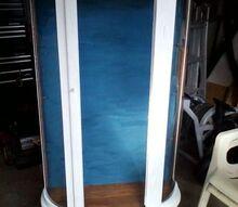 q need ideas for curio door to replace broken glass please, furniture repair, painted furniture