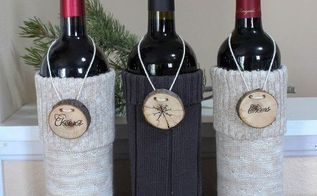 wine bottle sweaters, crafts, how to, repurposing upcycling