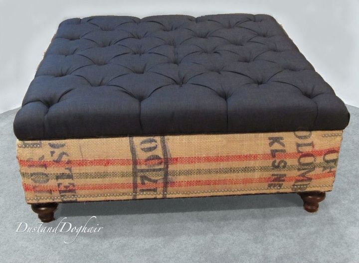 coffee table storage ottoman, diy, repurposing upcycling, storage ideas,  reupholster - An Authentic DIY