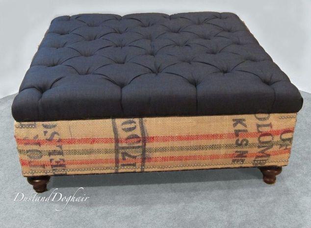 an authentic diy coffee table storage ottoman hometalk