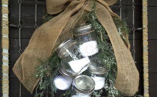 christmas decor fake snow jars, christmas decorations, crafts, seasonal holiday decor
