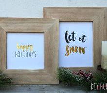 holiday printables diy metallic, christmas decorations, crafts, seasonal holiday decor