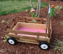 upcycled wagon wishing well from rotten to rustic, painted furniture, repurposing upcycling