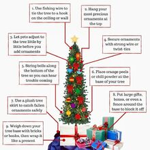 holiday safety tips to keep your kids pets and tree safe, christmas decorations, how to, seasonal holiday decor
