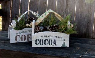 reclaimed wood gift boxes, christmas decorations, crafts, seasonal holiday decor