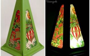 vintage jack stand christmas lantern, christmas decorations, crafts, seasonal holiday decor