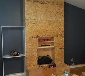 DIY Pallet Wood Fireplace | Hometalk