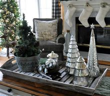 christmas decor nature inspired family room, christmas decorations, home decor, seasonal holiday decor