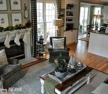 christmas decor nature inspired family room, christmas decorations, home decor, seasonal holiday decor